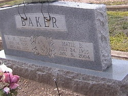 Matie Bertha <I>Treuthardt</I> Baker