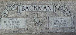 Elmer A Backman