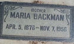 Maria <I>Smith</I> Backman