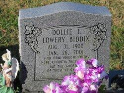 Dollie Jane <I>Lowery</I> Biddix