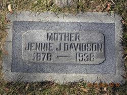 Jennie <I>Johnson</I> Davidson
