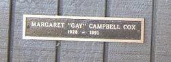 "Margaret ""Gay"" <I>Campbell</I> Cox"