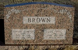 "Dorothy Evelyn ""Dolly"" <I>Clements</I> Brown"