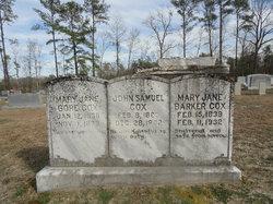 Mary Jane <I>Barker</I> Cox