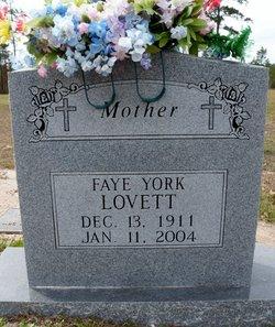 Faye <I>York</I> Lovett