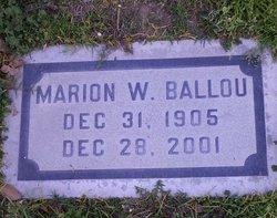 Marion W <I>Walker</I> Ballou