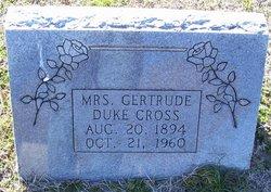 Gertrude <I>Duke</I> Cross