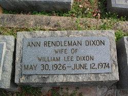Ann Marie <I>Rendleman</I> Dixon