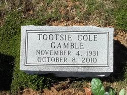 "Mildred Jean ""Tootsie"" <I>Barlar</I> Gamble"