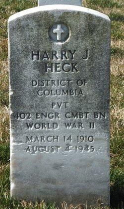 Pvt Harry J Heck