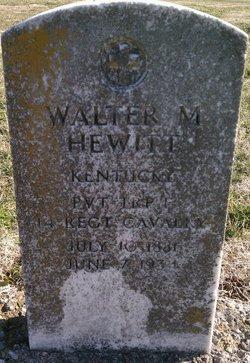 Pvt Walter M. Hewitt