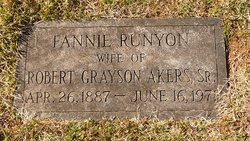 Fannie <I>Runyon</I> Akers