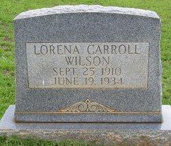 Lorena <I>Carroll</I> Wilson