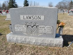 Mary Ann <I>Andrews</I> Lawson