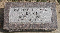 Pauline <I>Dorman</I> Albright