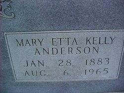 Mary Etta <I>Kelly</I> Anderson