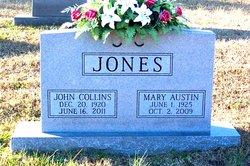 Mrs Mary Elizabeth <I>Austin</I> Jones