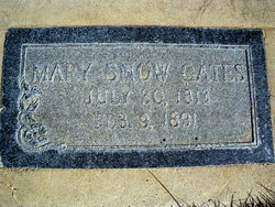 """Mary Minerva """"Millie"""" <I>Snow</I> Gates"""