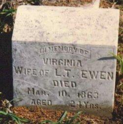 Virginia A <I>Shumate</I> Ewen