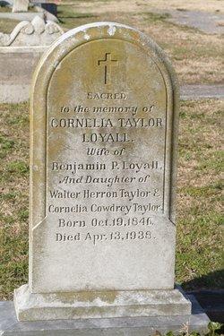Cornelia Wickham <I>Taylor</I> Loyall