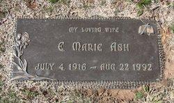 E Marie <I>Bates</I> Ash