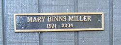 Mary L <I>Binns</I> Miller
