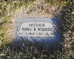 Mary Sophronia <I>Barber</I> Atwood