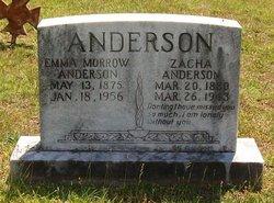 Emma <I>Morrow</I> Anderson