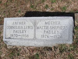 "Martha ""Mattie"" <I>Shepard</I> Pauley"