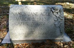 Nancy Jane <I>Tucker</I> Agee