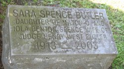 Sara <I>Spence</I> Butler