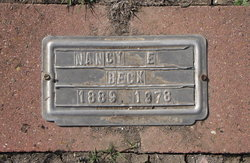"Nancy Elizabeth ""Lizzy"" <I>Warren</I> Beck"