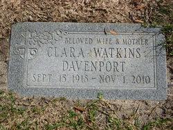 Clara <I>Watkins</I> Davenport
