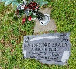 Joy <I>Lunsford</I> Brady