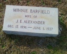 Minnie <I>Barfield</I> Alexander
