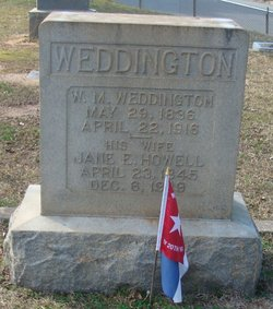Jane Elizabeth <I>Howell</I> Weddington