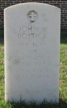 PVT John W Bostick