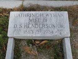 Catherine Harriet <I>Wyman</I> Henderson
