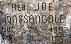 "Rev Joseph B. ""Joe"" Massangale"