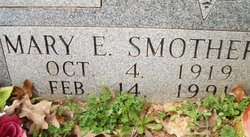 Mary Elizabeth <I>Smothers</I> Allen