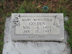 Mary <I>Woolfolk</I> Golden