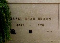 """Hazel Dean """"Kate"""" <I>Ramaker</I> Brown"""