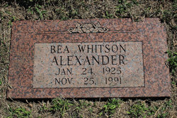 Bea <I>Whitson</I> Alexander
