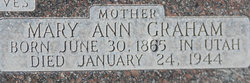Mary Ann <I>Graham</I> Bowcutt