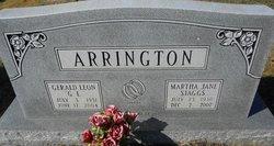 Martha Jane <I>Staggs</I> Arrington