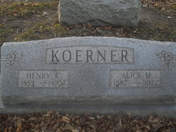Alice Martha <I>Vercler</I> Koerner