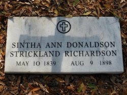Sintha Ann <I>Donaldson</I> Strickland Richardson