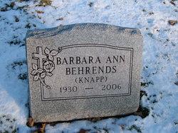 Barbara Ann <I>Knapp</I> Behrends