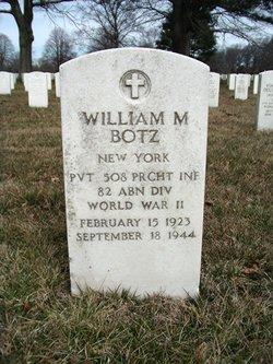Pvt William M Botz