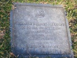 "Ferdinand ""Ferdie"" <I>Williams</I> Alexander"